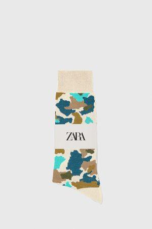 Zara Camouflage jacquard mercerised cotton socks