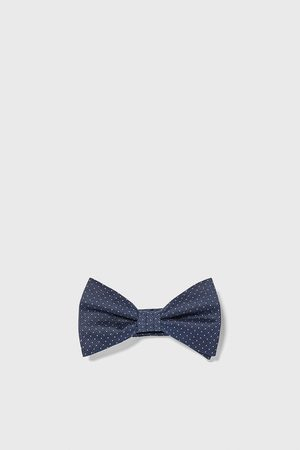 Zara Textured polka dot bow tie