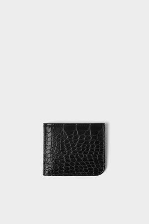 Zara Miehet Lompakot & Kukkarot - Reptile texture wallet