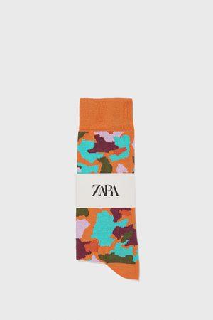 Zara Miehet Sukat - Camouflage jacquard mercerised cotton socks
