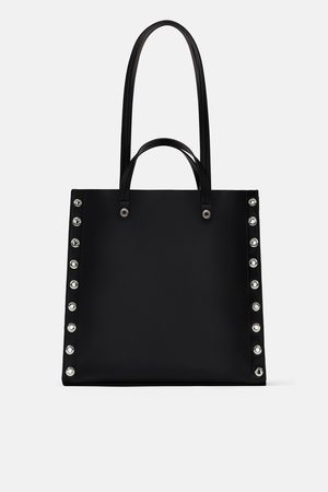 Zara ZIP TOTE BAG WITH STUDDED SIDES