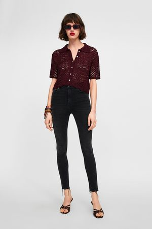 Zara JEANS ZW PREMIUM HIGH WAIST SHADOW BLACK