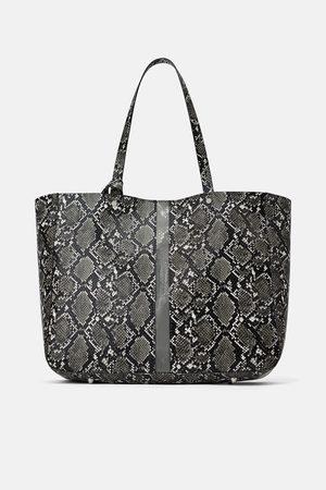 Zara Tote bag with vinyl detail