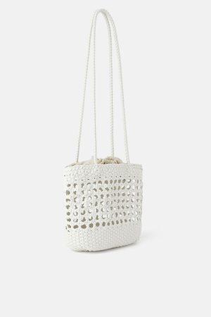 Zara Plaited tote bag