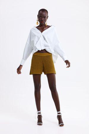 Zara Crochet knit bermuda shorts