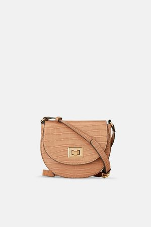 Zara Leopard print crossbody bag