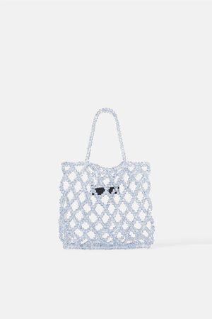 Zara Bejewlled mini tote bag