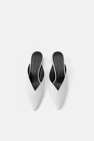 Zara V vamp high-heel mules