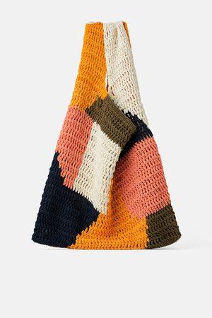Zara Naiset Isot laukut & ostoslaukut - Multicoloured cotton tote bag
