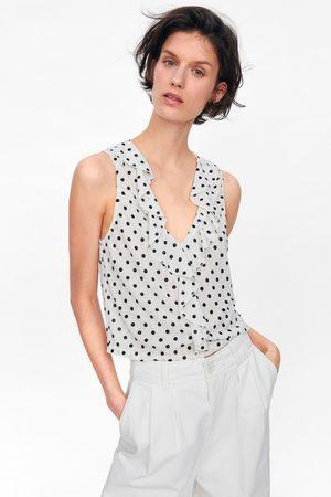 Zara T-shirt with ruffle trim