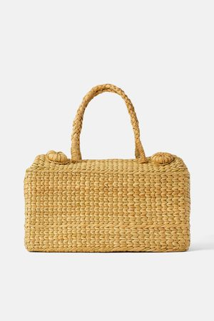 Zara Beige picnic basket bag