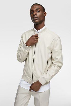 Zara Faux leather bomber jacket