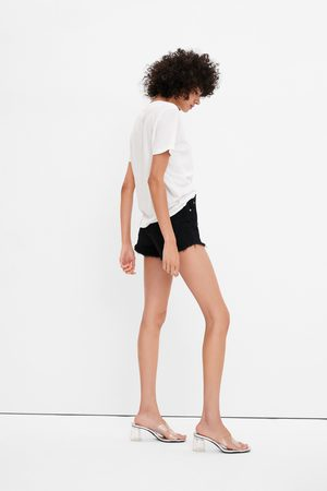 Zara Hi-rise denim shorts