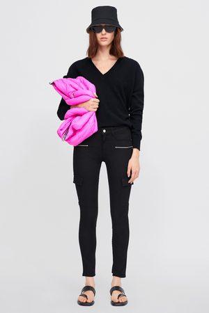 Zara Skinny trousers with zips