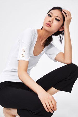 Zara T-shirt with buttons