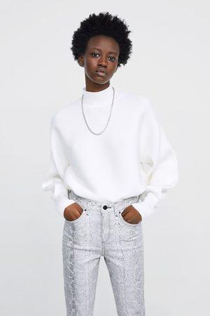 Zara High waist skinny z1975 jeans with snakeskin print