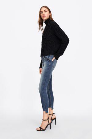 Zara Z1975 skinny jeans with asymmetric hems