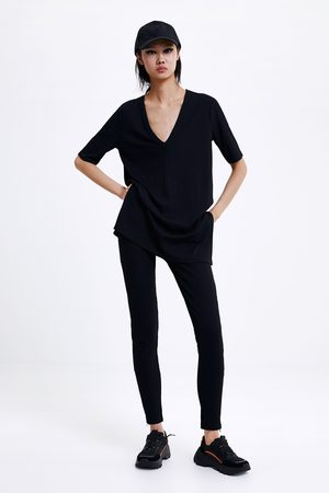 Zara Textured stretch t-shirt