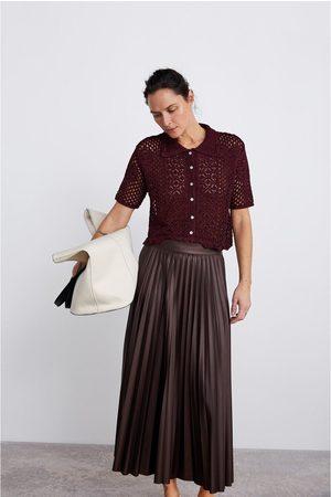 Zara Naiset Pikeepaidat - Crochet polo sweater