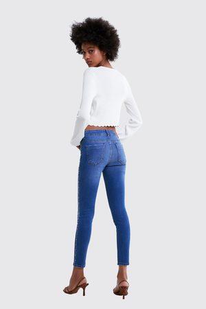 Zara Z1975 skinny jeans with beaded side trims