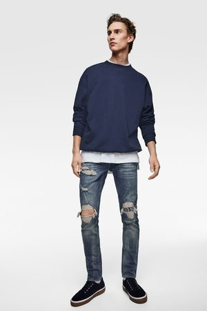 Zara Skinny jeans with bandanna patches