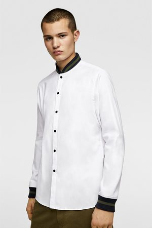 Zara Oxford shirt with contrast ribbed cuffs