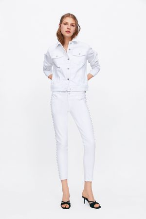 Zara Jeans z1975 mid rise skinny shimmer