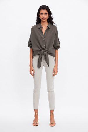 Zara Zw premium skinny cargo ice jeans