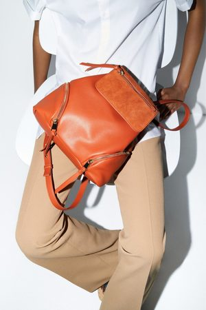Zara Leather backpack with flap