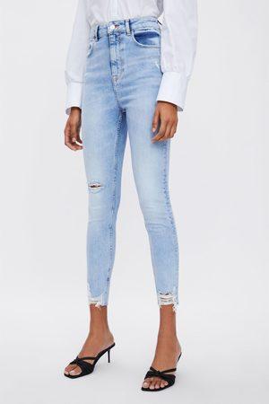 Zara Jeans z1975 high rise skinny rips