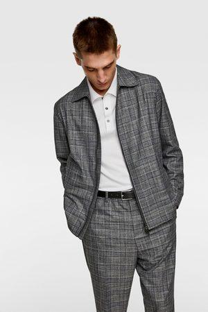Zara Check suit jacket