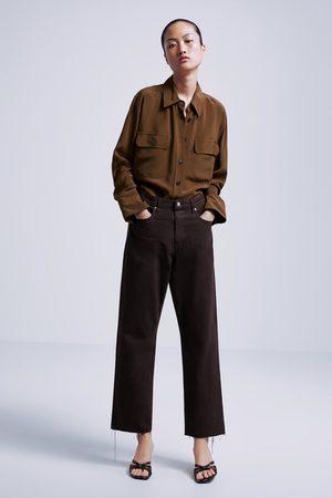 Zara Naiset Suorat farkut - Jeans zw premium straight cropped