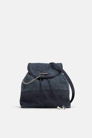 Zara Towelling fabric backpack