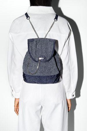Zara Naiset Reput - Towelling fabric backpack