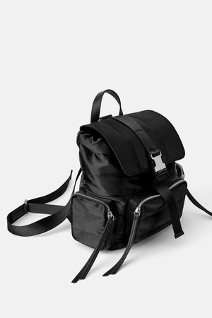 Zara Quilted technical fabric backpack