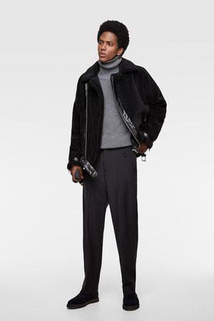 Zara Faux fur biker jacket