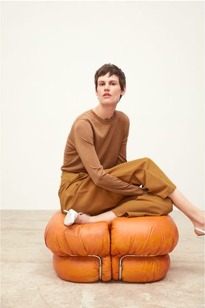 Zara Naiset Leveät Housut - Wide-cut trousers with darts