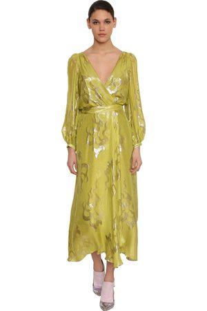 TEMPERLEY LONDON Silk Blend Wrap Midi Dress