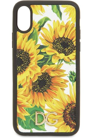 Dolce & Gabbana Printed Leather Iphone X Cover