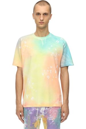KLSH - KIDS LOVE STAIN HANDS Miehet T-paidat - Tie Dye Printed Cotton Jersey T-shirt