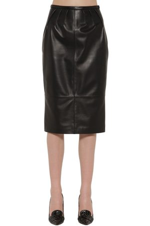 Rochas Leather Pencil Skirt