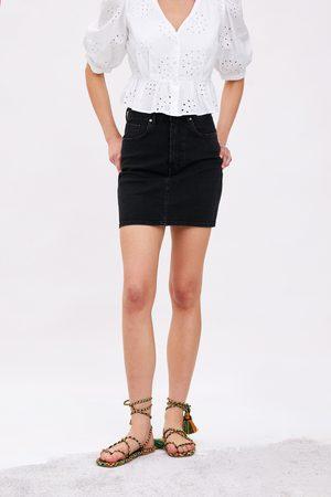 Zara Naiset Minihameet - Denim mini skirt