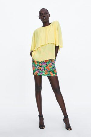 Zara Naiset Puserot - Pleated cape blouse
