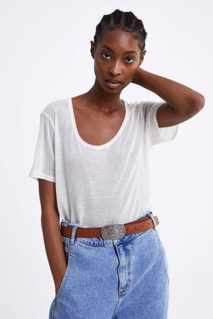 Zara Naiset T-paidat - Premium basic t-shirt