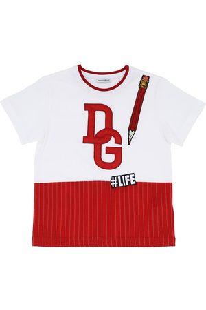 Dolce & Gabbana Logo Printed Cotton Jersey T-shirt