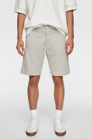 Zara Bermuda shorts in check texture