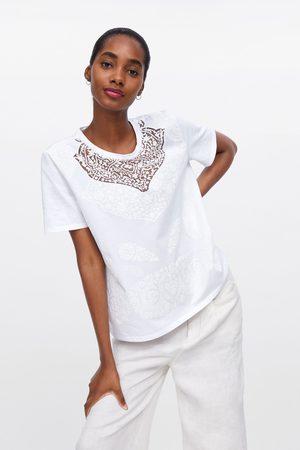 Zara Contrasting fabric t-shirt