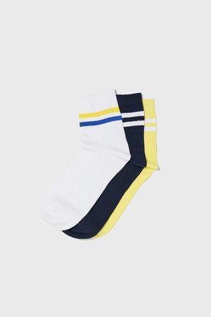 Zara Pack of ribbed socks with stripes
