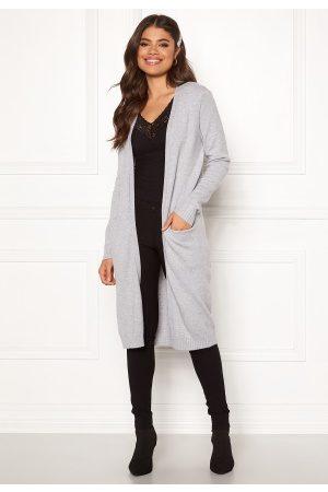 Vila Ril Long Knit Cardigan Light Grey Melange S