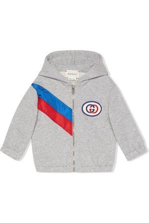 Gucci Ribbon zip-up hoodie